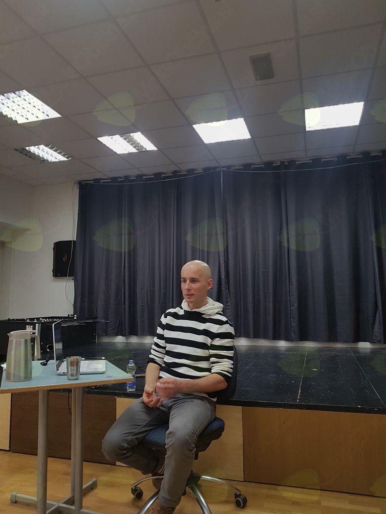 Predavatelj Andrej Pešec, foto Brane Tomšič.