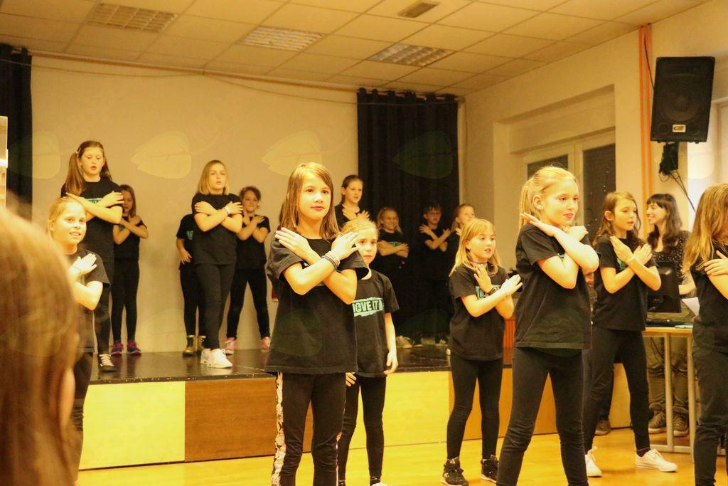 Zbor so popestrile plesne točke, foto  Maša Vončina.