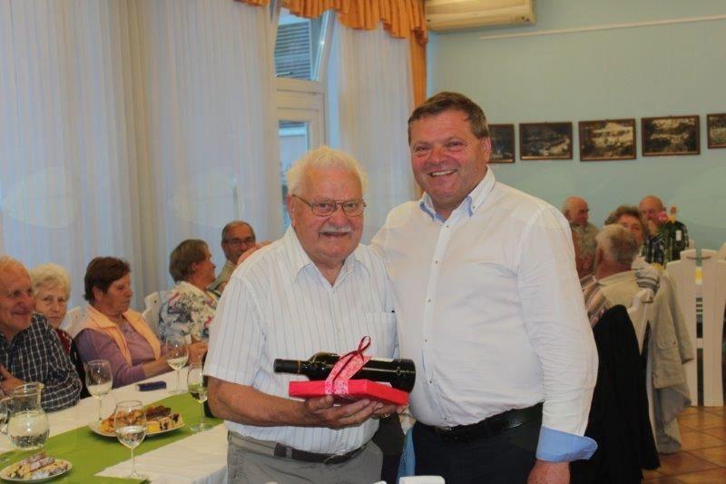 85-letni Jože Gregorc vedno vedrega obraza