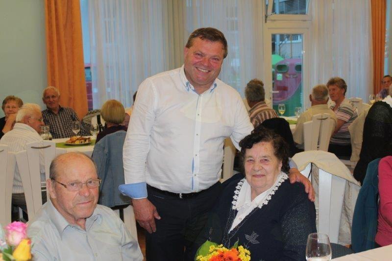 Najstarejša udeleženka srečanja Justina Fijavž (91 let)