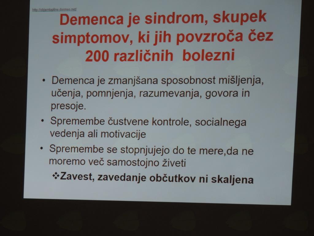 Okrito o demenci