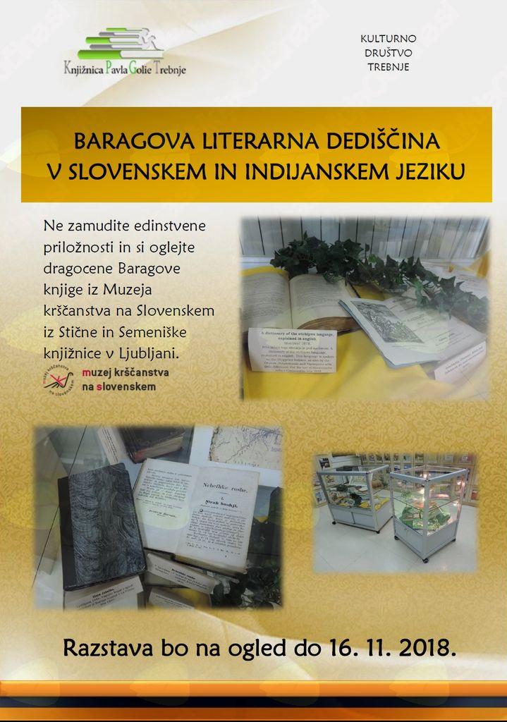 Razstava Baragove literarne dediščine v slovenskem in indijanskem jeziku