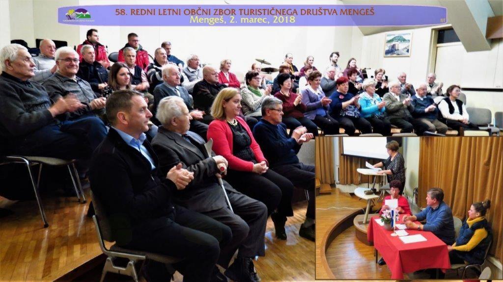 Udeleženci občnega zbora in delovno predsedstvo