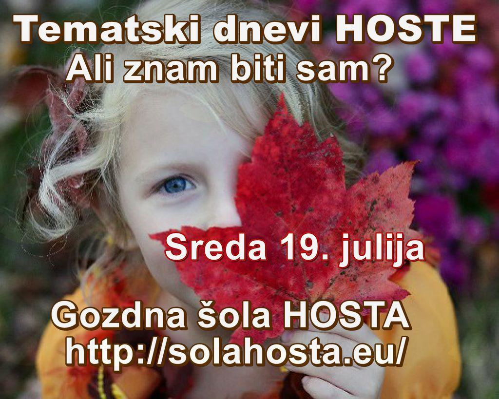Tematski dnevi Gozdne šole Hosta
