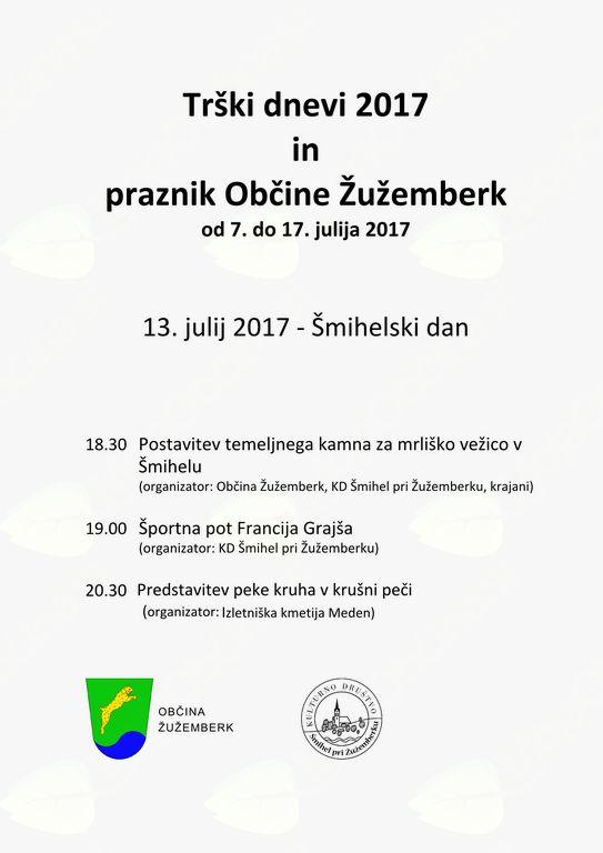 TRŠKI DNEVI 2017: 13. julija - Šmihelski dan