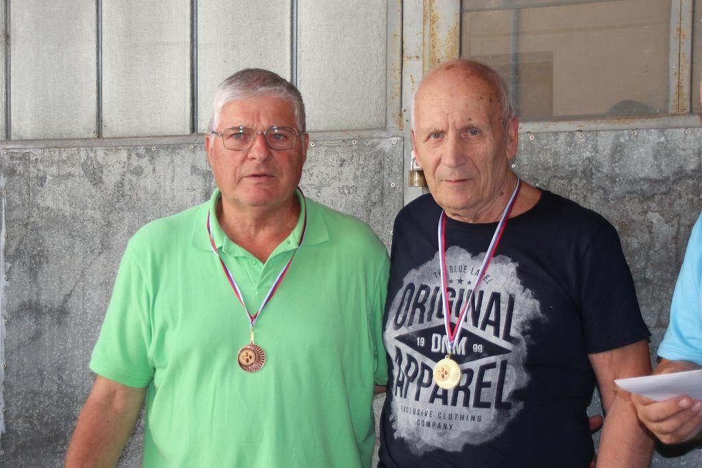 Ekipa nad 60 let, desno Jože Jeram, levo Tone Mohor iz Kisovca