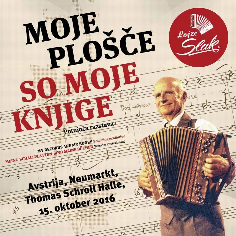 Potujoča razstava o ansamblu Lojzeta Slaka z naslovom »Moje plošče so moje knjige« bo v avstrijskem Neumarktu