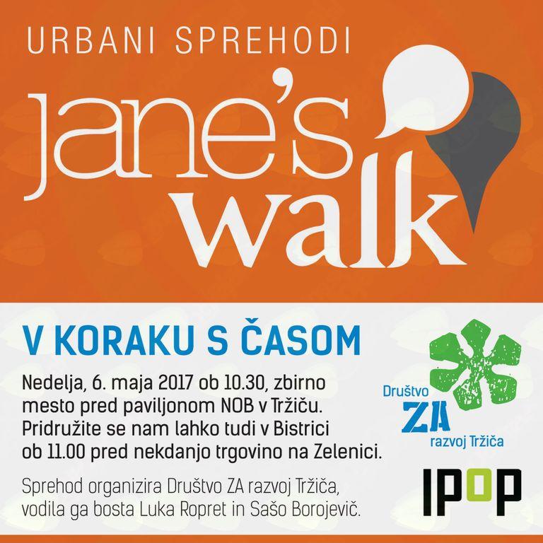 Jane's Walk: V KORAKU S ČASOM