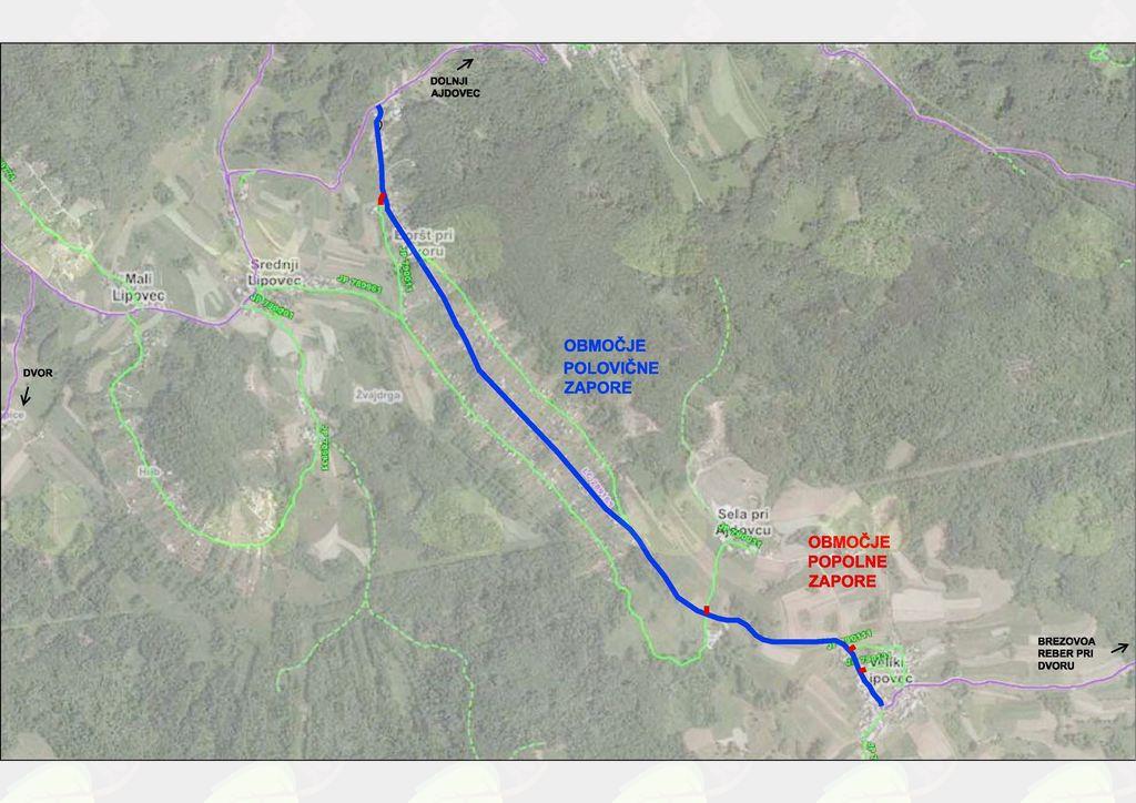 Polovična zapora Veliki Lipovec - Boršt (Ajdovska planota)