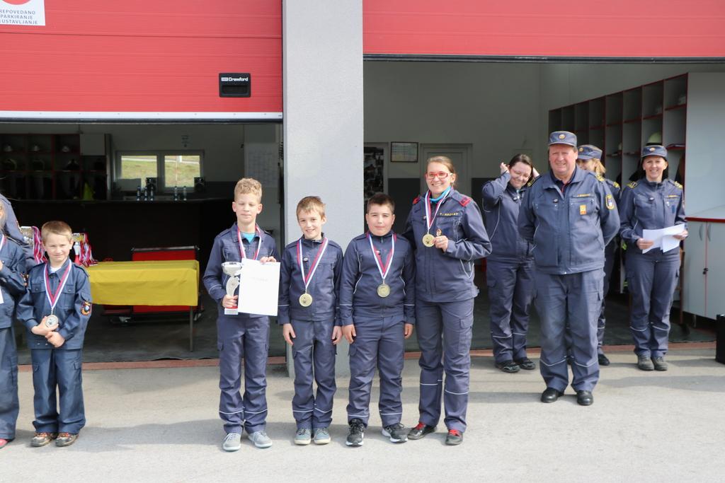 Kviz gasilske mladine Dolenjske regije, pionirji PGD Reber, 1. mesto