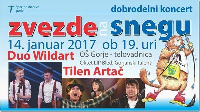 Dobrodelni koncert ZVEZDE NA SNEGU 2017