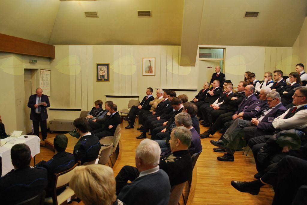 Bogato poročilo o delovanju veteranske sekcije je prebral Bojan Burnik.