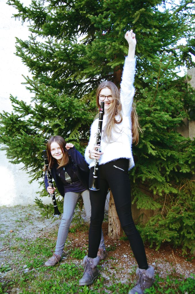 Zlati klarinetistki Ula in Kika