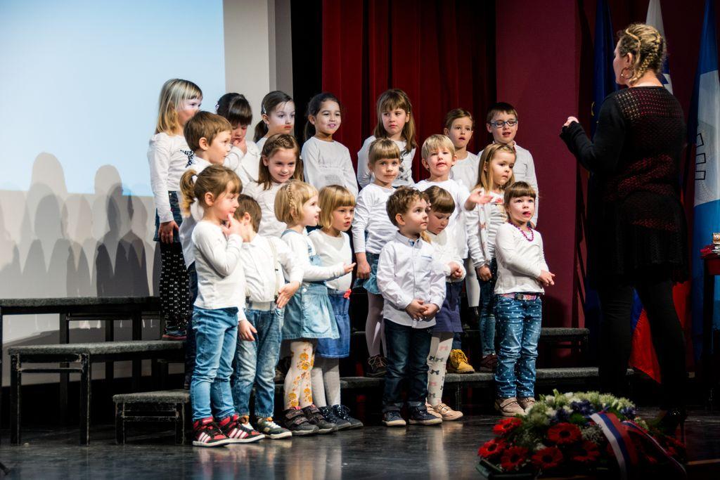 Prireditev so popestrili tudi naši najmlajši. Foto: Jernej Kravos