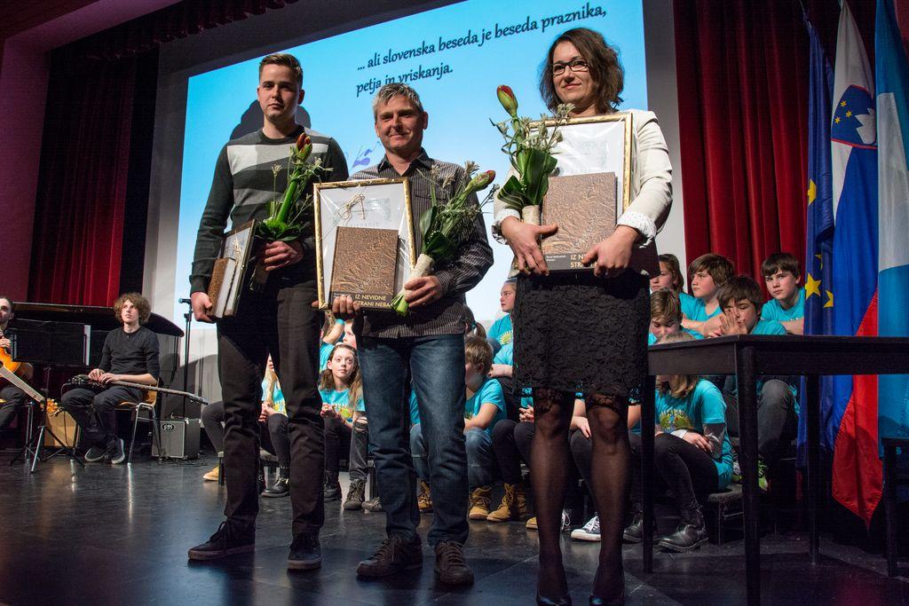 Letošnji nagrajenci. Foto: Jernej Kravos