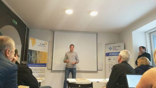 Petim evropskim partnerjem predstavili odlične primere inovativnega povezovanja in spodbujanja podjetništva v Srcu Slovenije