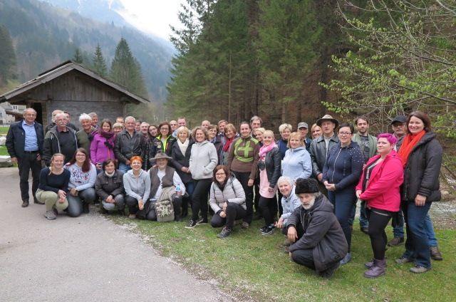 Udeleženci ekskurzije LAS Srce Slovenije v Zgornje Savinjski dolini (foto Tina Vatovec).