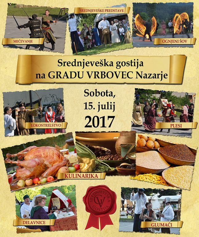 Srednjeveška gostija na gradu Vrbovec Nazarje