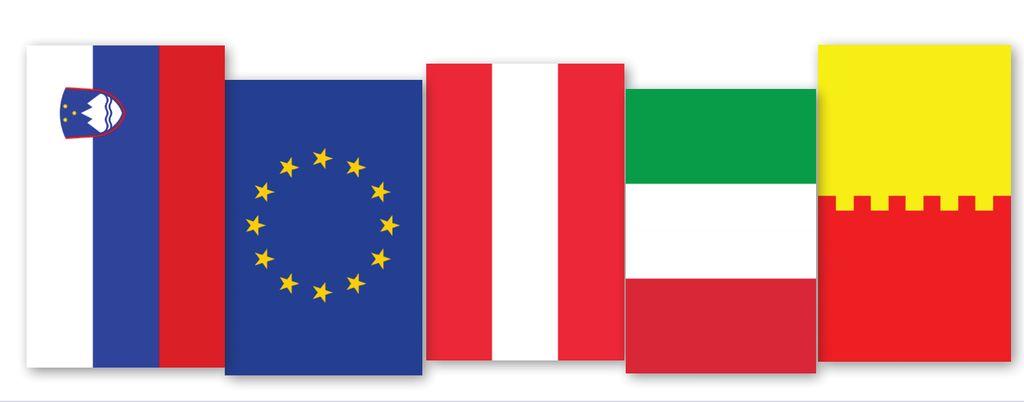 Izobešanje štirih zastav in več zastav