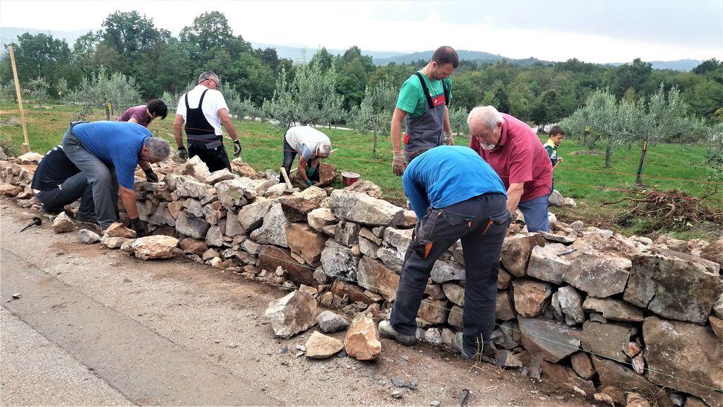 Nadaljevanje obnove suhozidov v krajevni skupnosti Temnica