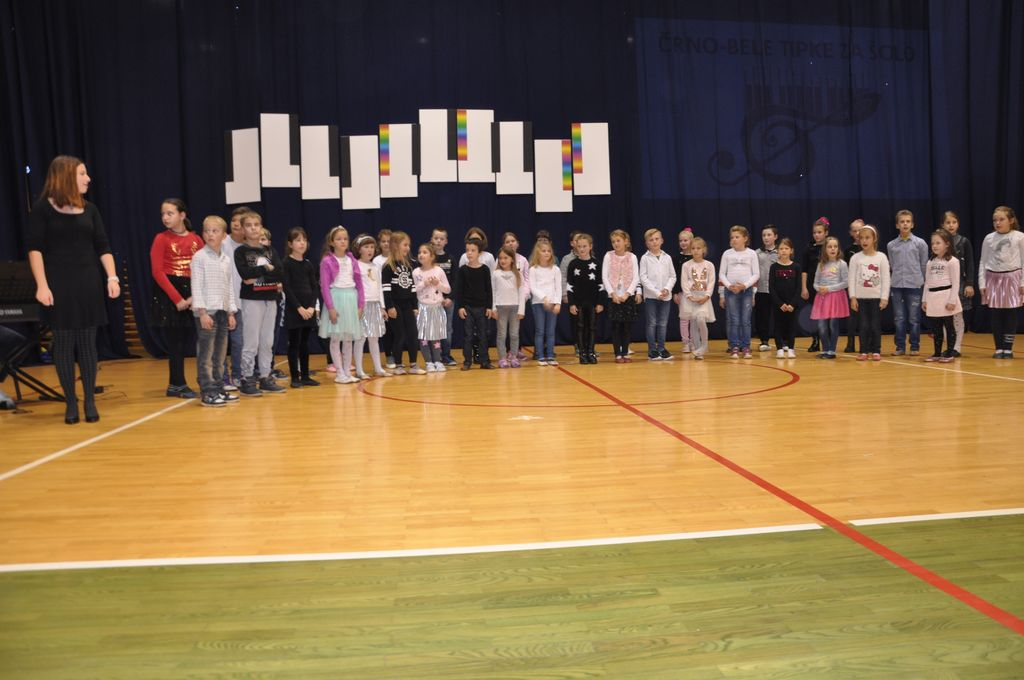 Črno-bele tipke za šolo
