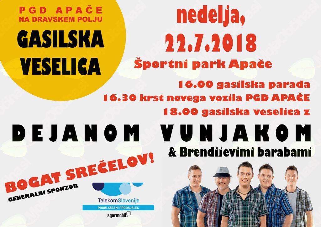 PGD Apače na Dravskem polju tekmovalno in delavno v prvi polovici 2018