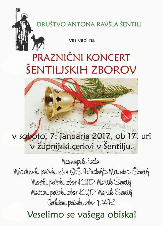 Praznični koncert šentiljskih zborov