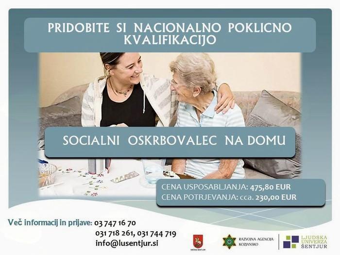 NPK Socialni oskrbovalec/ socialna oskrbovalka na domu