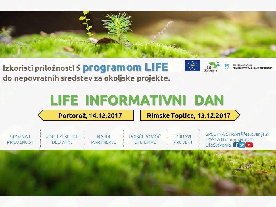 Nepovratna sredstva za okoljski projekt: spoznaj priložnost LIFE v decembru