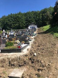 Obvestilo - gradbena dela na pokopališču Dobje