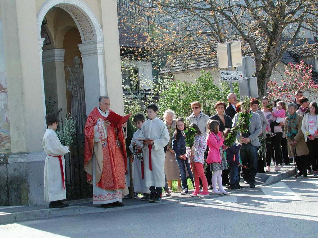 Cvetna nedelja pri svetem Tomažu v Krašnji