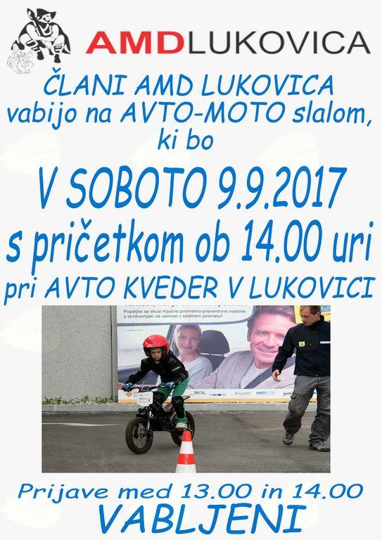Avto – moto slalom za motoriste in avtomobiliste