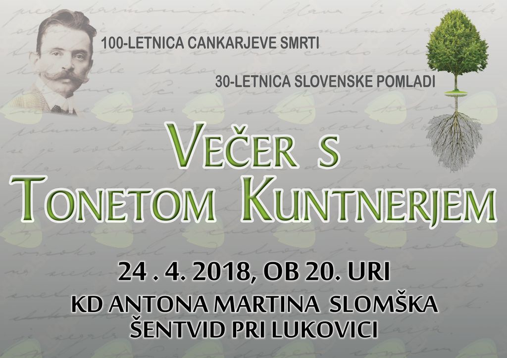 Predstavitev nove pesniške zbirke Tonate Kuntnerja Zamrzjena Pomlad