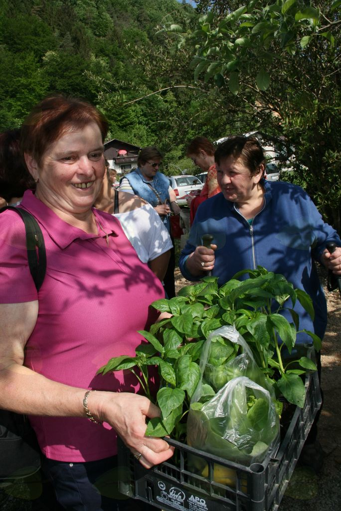 Kmečke žene skupaj na izlet v Trnjavo