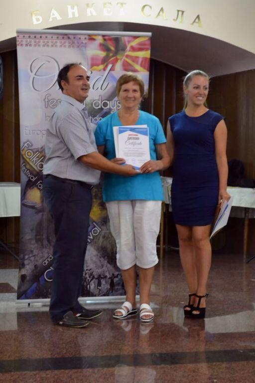 Podelitev diplome Mariji Terčelj
