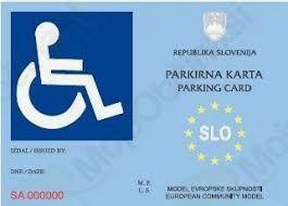 Obvestilo - Parkiranje na mestih za invalide