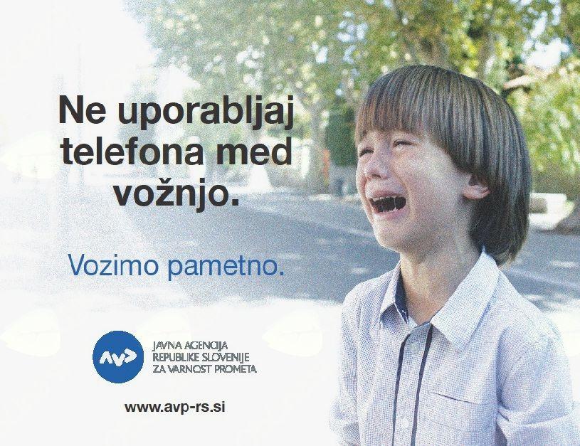 Uporaba telefona med vožnjo je nevarna