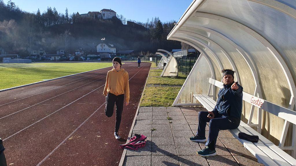 Trening atletike na stadionu in v dvorani - Ljubljana