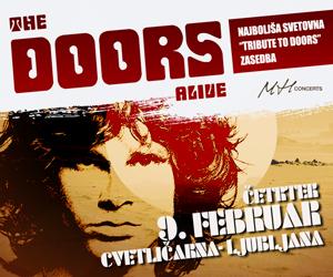 THE DOORS ALIVE (VB), NAJBOLJŠA SVETOVNA TRIBUTE TO ZASEDBA THE DOORS