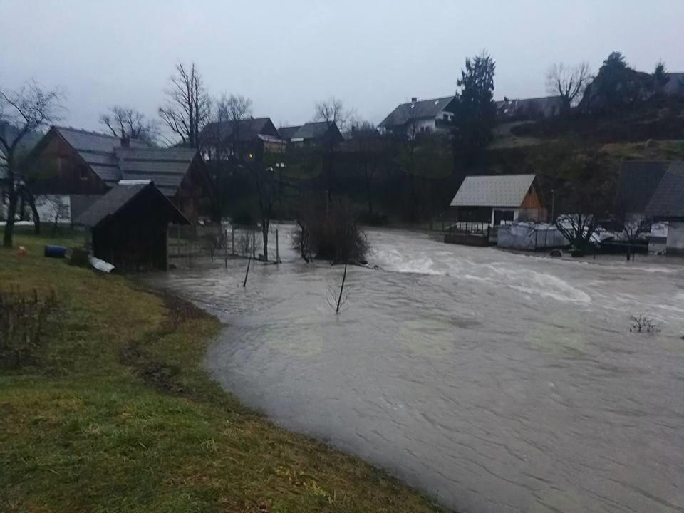 Poplava v Stari Fužini - (avtor fotografije Katarina Zalokar)