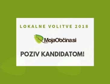 Poziv kandidatom - lokalne volitve 2018