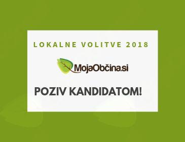 Lokalne volitve 2018 - poziv kandidatom