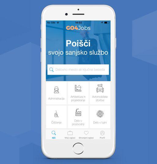 Mobilna aplikacija GO4 Jobs – aplikacija, ki olajša iskanje zaposlitve