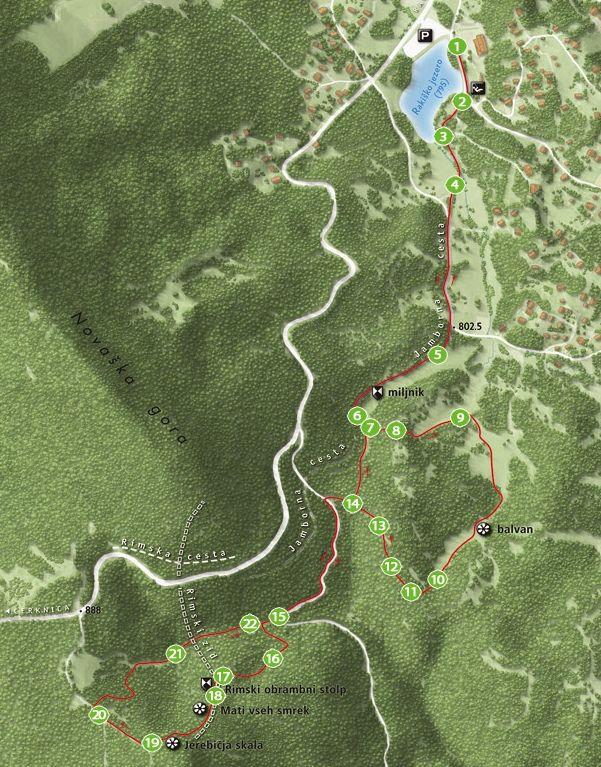 Gozdna in arheološka učna pot Rimski Zid-Rakitna