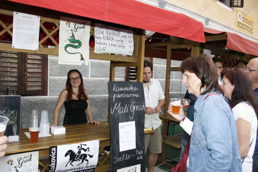 Pivovarska fešta v središču Lukovice
