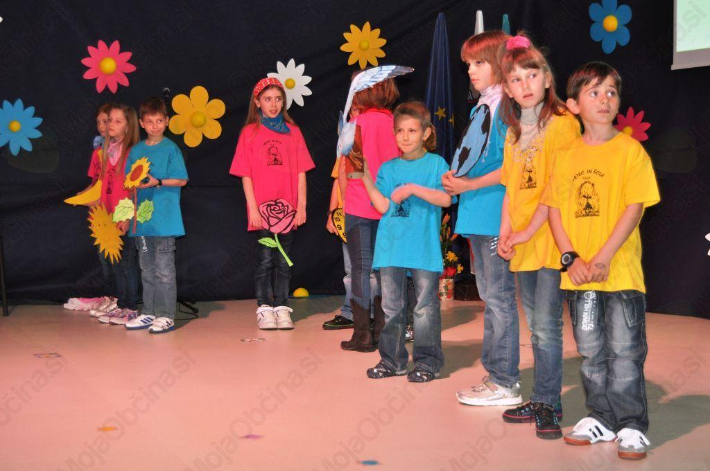 Nastop učencev pod mentorstvom učiteljice Vere Kranjc in Čelestine Kranjc.