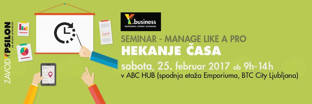 Y.business seminar Hekanje časa