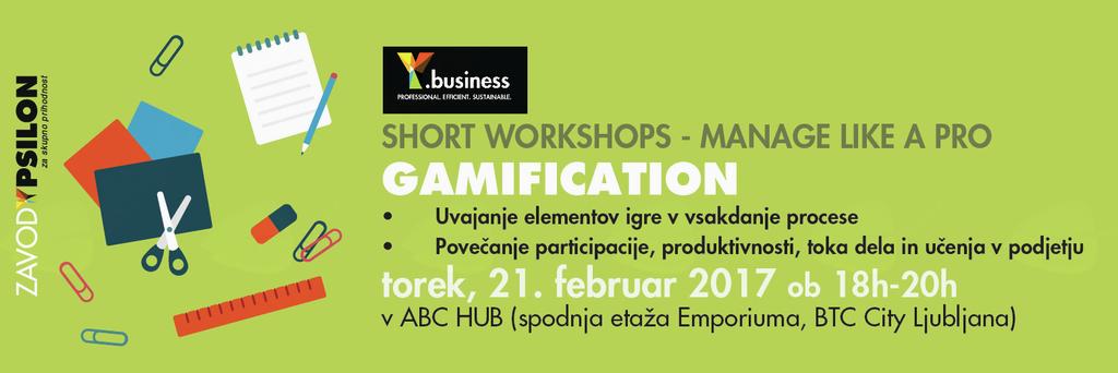 Y.business delavnica: Gamification