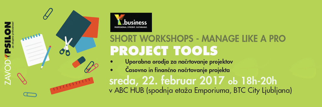Y.business delavnica: Project tools