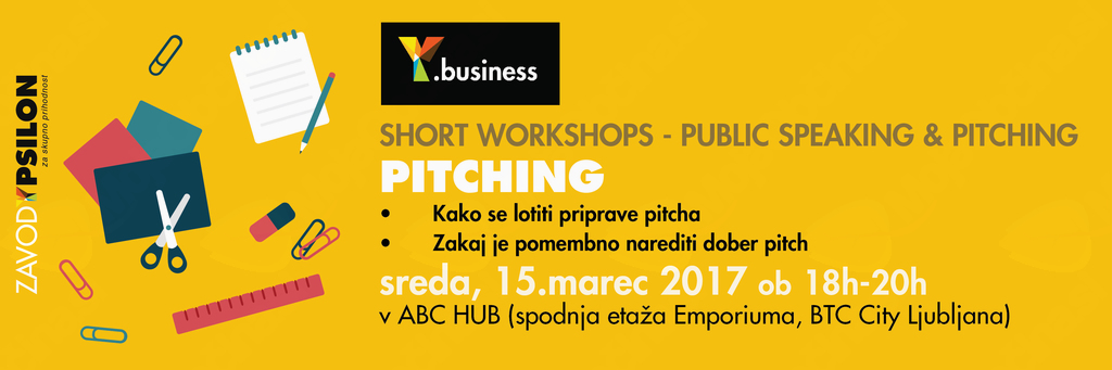 Y.business delavnica: Pitching